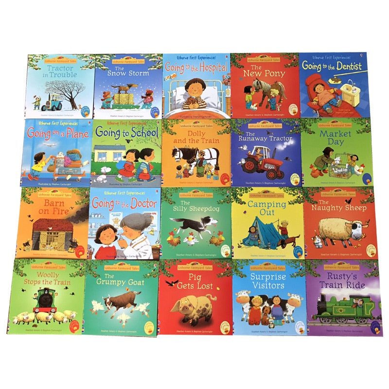 20pcs/set 15x15cm Usborne Picture English Books For Children And Baby Famous Story English Tales Series Of Child Book Farm Story