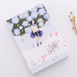 New Creative Small fresh Floral Illustration Notebook Stationery Diary Weekly Planner 32K Journal Sketchbook Agenda