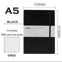Load image into Gallery viewer, A5 Hardcover Bandage Dot Grid A5 Soft Cover Diary Bullet Notebook Dotted 228 pages Journal Bujo