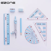 Load image into Gallery viewer, EZONE Students Ruler Sets Candy Color Drafting Tools Math Compasses Set With Pencil/Ruler/Eraser/Sharpener School Office Supply