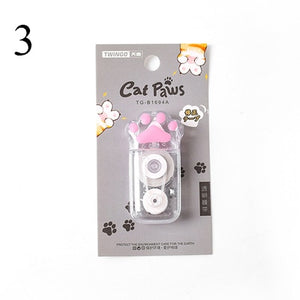 1Pc 5mm*6m Cute Cartoon Correction Tape Kawaii Cat Paw Correction Tool For Kids Gifts School Stationery Correction Supplies