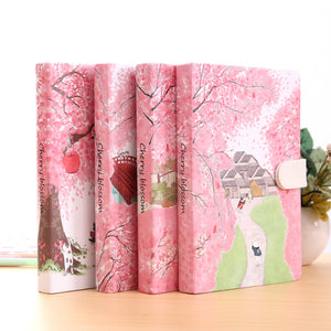 """Sakura Cat ver.2"" Journal Diary Hard Cover Cute Journal Study Notebook Lined Papers Stationery Gift"