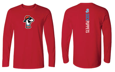 Sock Puppets Red Spine Long Sleeve