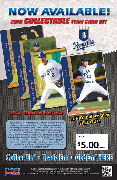 Burlington Royals 2015 Team Card Set