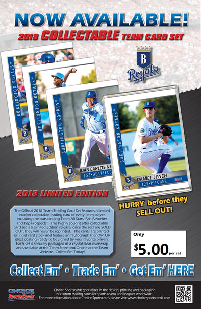 Burlington Royals 2018 Team Card Set
