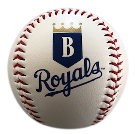 Burlington Royals Logo Baseball