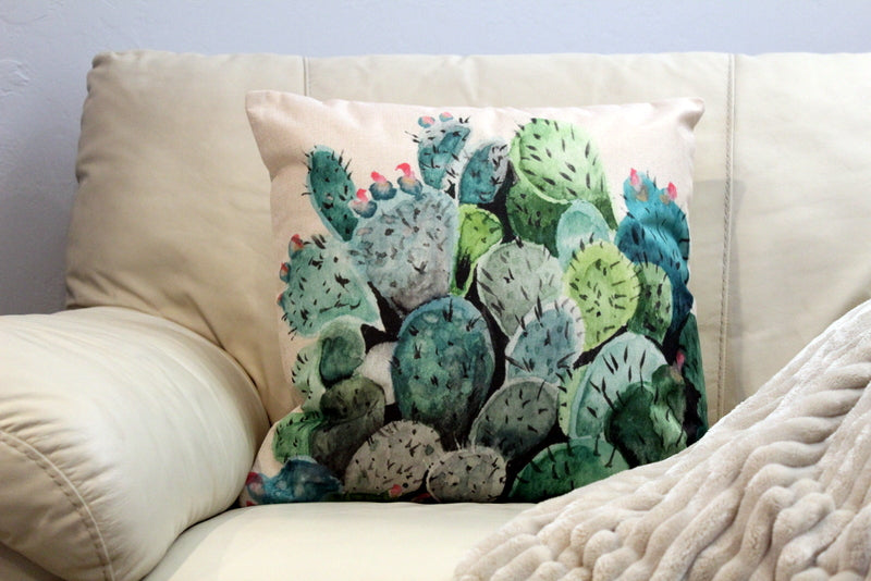 Pillow Cover Prickly Pear Flowers 18 x 18