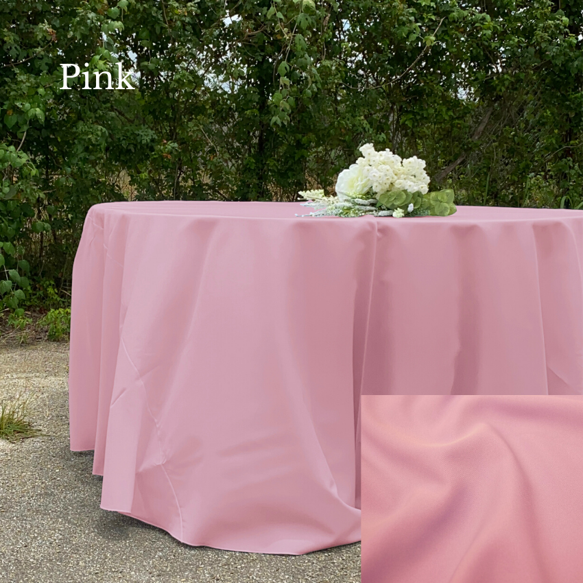 Pink Polyester- Liberty Luxury Linen