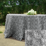 Load image into Gallery viewer, Rosette Satin Tablecloths