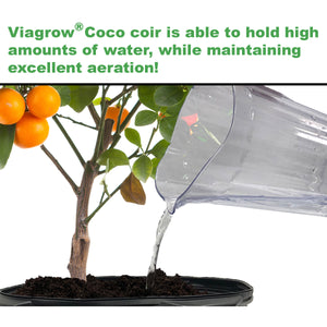 Viagrow Coco Coir Buffered premium coconut growing medium 50L/52.8 qts /1.5CF/13.2Gals, Pallet, 90 Bags