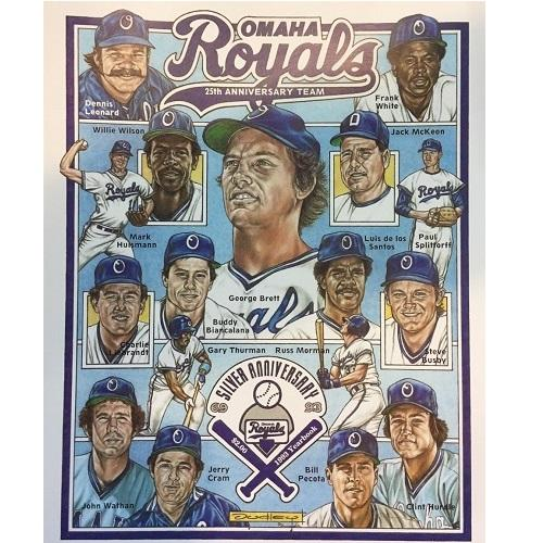 Omaha Storm Chasers 25th Season Player Print