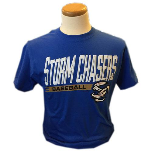 Omaha Storm Chasers Youth BR Royal Basic SC Tee