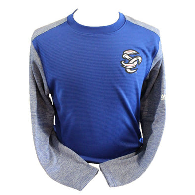 Omaha Storm Chasers Men's Majestic Royal MLB Tech Fleece