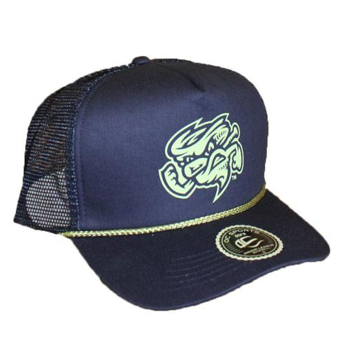 Omaha Storm Chasers OC Navy/Lime Captain Hat