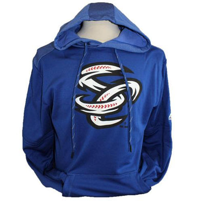 Omaha Storm Chasers Men's Majestic Royal Players Hood Fleece