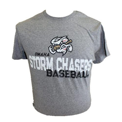 Omaha Storm Chasers Youth BR Grey Snow Heather Tee