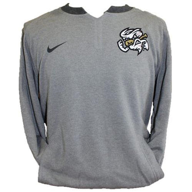 Omaha Storm Chasers Men's Nike Grey 3/4 Flux Crewneck
