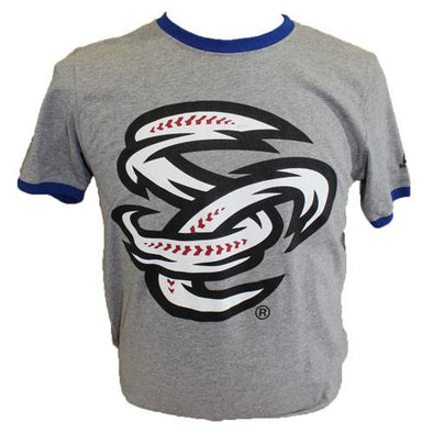 Omaha Storm Chasers Men's Russell Grey/Royal Ringer Tee