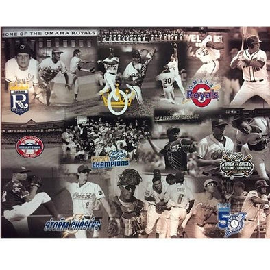 Omaha Storm Chasers 50th Season Player Logo Print