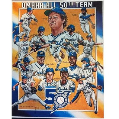 Omaha Storm Chasers 50th Season Player Print