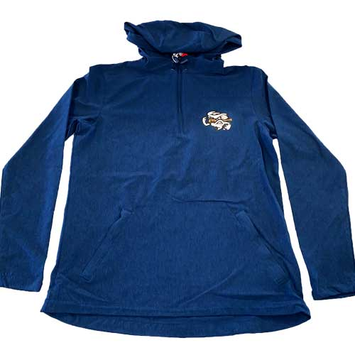 Omaha Storm Chasers Men's Vantage Grey Anorak Pullover Jacket
