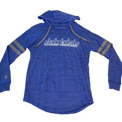 Omaha Storm Chasers Women's Holl Royal Low Key Hood Pullover