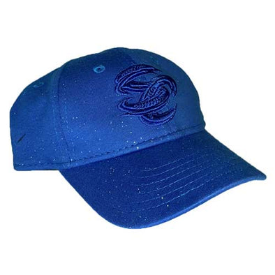 Omaha Storm Chasers Youth New Era 9Twenty Royal Sparkle Hat