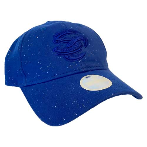 Omaha Storm Chasers Women's New Era 9Twenty Royal Sparkle Adjustable Hat