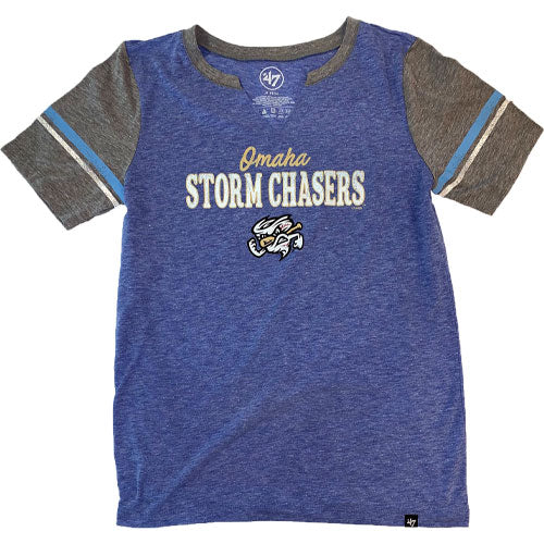 Omaha Storm Chasers Women's 47 Royal Match Notch Tee