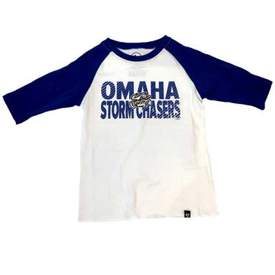 Omaha Storm Chasers Youth 47 Royal/White Fast Track Raglan