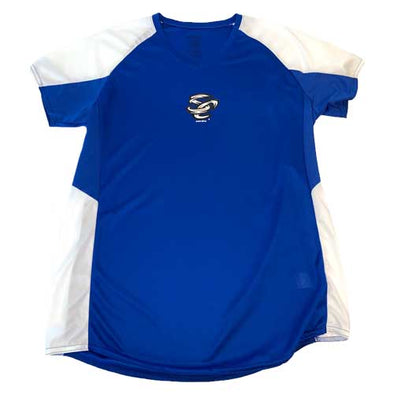 Omaha Storm Chasers Women's Augusta Royal/White Cutter Jersey