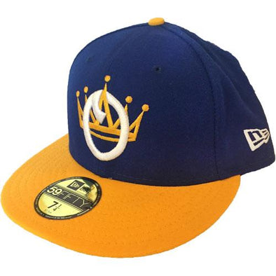 Omaha Royals New Era 59Fifty Gold Bill Crown Cap
