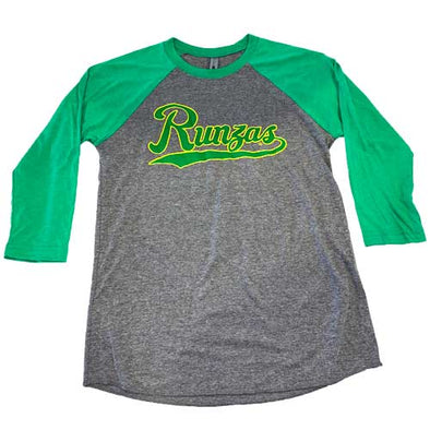 Omaha Runzas Green/Heather Baseball Tee