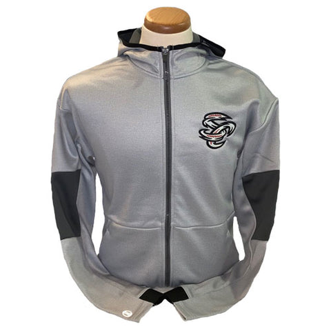 Omaha Storm Chasers Men's Augusta Grey/Carbon Full Zip Hoodie