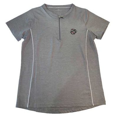 Omaha Storm Chasers Women's Vantage Grey Front Zip Polo