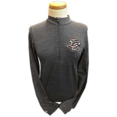 Omaha Storm Chasers Women's Holl Grey Striated 1/2 Zip Pullover