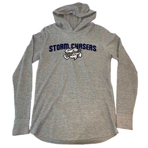 Omaha Storm Chasers Women's 108 Grey Thermal Hoodie