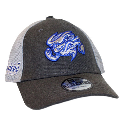 Omaha Storm Chasers Youth/Toddler New Era 39Thirty Graphite Heather Cap