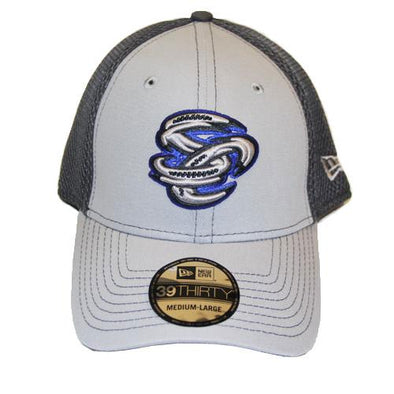 Omaha Storm Chasers New Era 39Thirty Grey Out SC Neo Cap