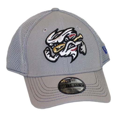 Omaha Storm Chasers Youth/Toddler New Era 39Thirty Grey Neo Stitcher Cap