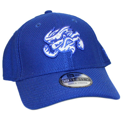Omaha Storm Chasers Youth/Toddler New Era 39Thirty Royal/Silver Vortex Hat