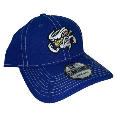 Omaha Storm Chasers New Era 9Forty Royal/White Stitch Cap