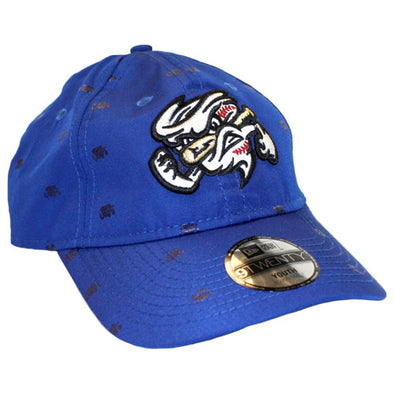 Omaha Storm Chasers Youth New Era 9Twenty Royal Scatter Vortex