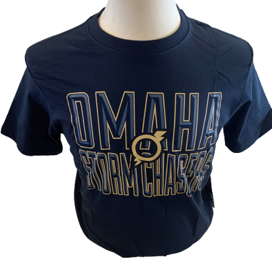 Omaha Storm Chasers Men's 47 Navy Bevel Tee