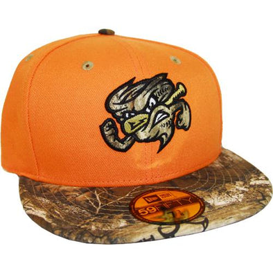 Omaha Storm Chasers New Era 59Fifty Orange/Camo Outdoor Hat