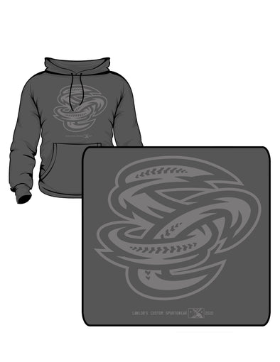 Omaha Storm Chasers Youth Grey SC Tonal Hoodie
