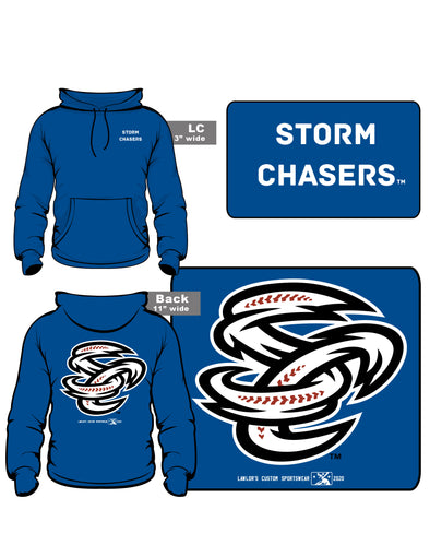 Omaha Storm Chasers Adult Royal SC Back Print Hoodie