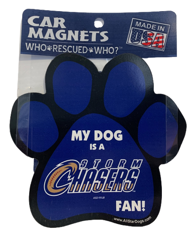 Omaha Storm Chasers Paw Magnet