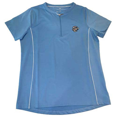 Omaha Storm Chasers Women's Vantage Lt. Blue Front Zip Polo