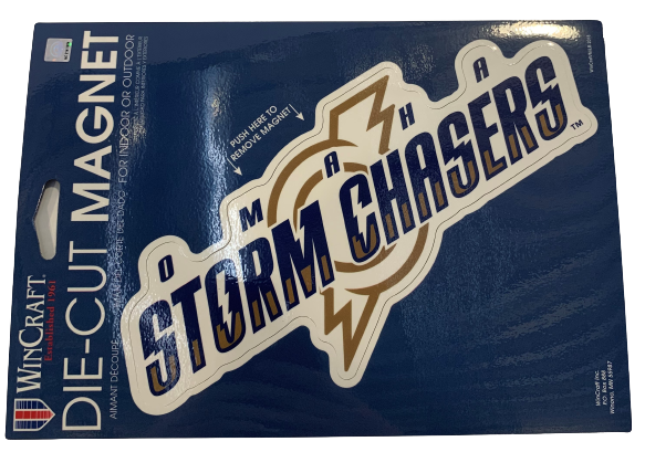 Omaha Storm Chasers Primary Logo Car Magnet